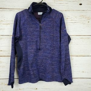 Columbia Purple Half Zip Pullover